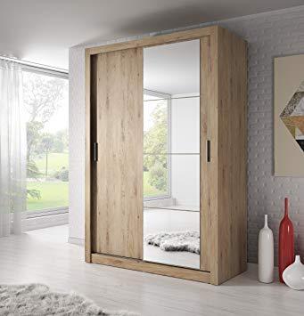 Wardrobe With Mirror Sliding Doors, Small Mirrored Wardrobe With Sliding Doors